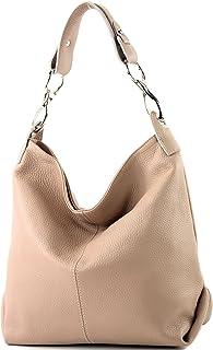 modamoda de - T168 - ital Schultertasche Umhängetasche aus Leder