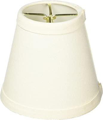 "Royal Designs Round Empire Clip On Chandelier Lamp Shade, Green, 3"""" x 5"""" x 4.5"""" (CS-987-5LNEG-6)"