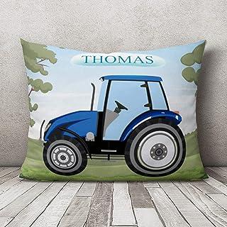 Funda de almohada personalizada para guardería, funda de almohada para bebé, funda de almohada personalizada, diseño de tractor