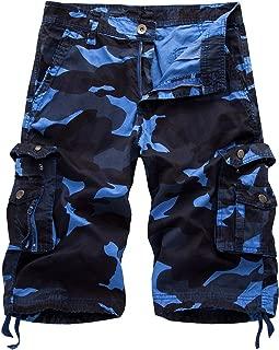 blue camo shorts