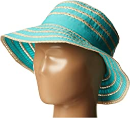 San Diego Hat Company Kids - RBK3080 Kids Ribbon And Paper Straw Bucket Hat (Little Kids)