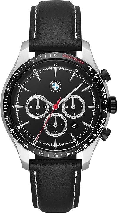 Orologio bmw cronografo quarzo uomo con cinturino in pelle bmw7001