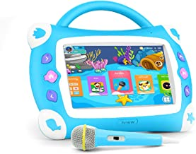 """iView Sing Pad 711TPC, 7"""" Kids Tablet with WiFi, Microphone, Preloaded Children's Games, Karaoke, Parental Control, Tablet Case with Built-in Stand"""