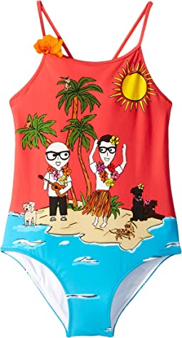 D&G Tropical One-Piece Swimsuit (Big Kids)