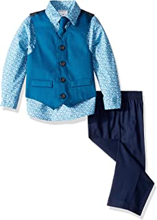Baby Boys 4-Piece Formal Dress Up Vest Set