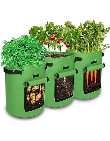 Carote 1 galloni Marrone pomodori Mintice 5 Pezzi sac /à plantes Borsa per Piante Verdura piantare Borsa Crescente Tessuto Traspirante vasi per fioriere casa Giardino per Patate