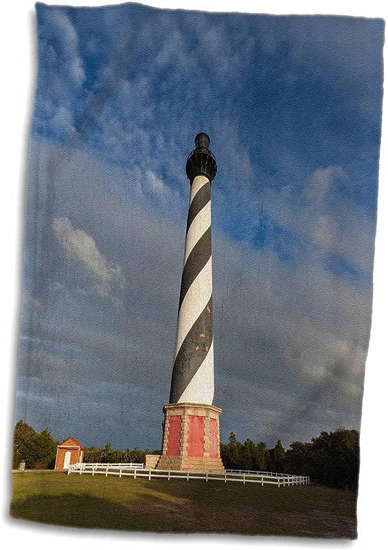 3D Rose North Carolina Cape Hatteras Lighthouse Hand Towel 15 X 22