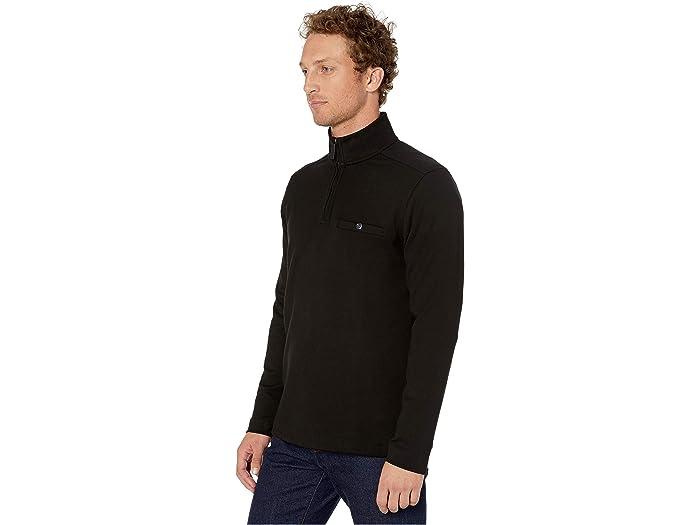 Johnston & Murphy Xc4 Solid 1/4 Zip Shirt Black Hoodies Sweshirts
