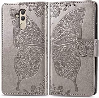 FanTing Case for Xiaomi Redmi 6A,Flower Butterfly Print Mobile Wallet Flip Cover with Mobile Phone Holder and Card Slot,Ma...