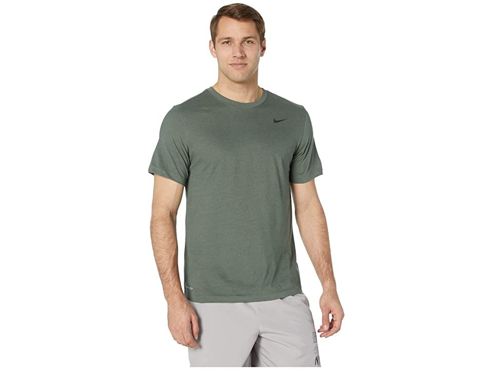 Nike Dry Tee Dri-FITtm Cotton Crew Solid (Mineral Spruce/Spruce Fog/White) Men