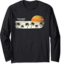 Vintage Pacific Grove CA Ocean Sunset and Palm Trees Long Sleeve T-Shirt