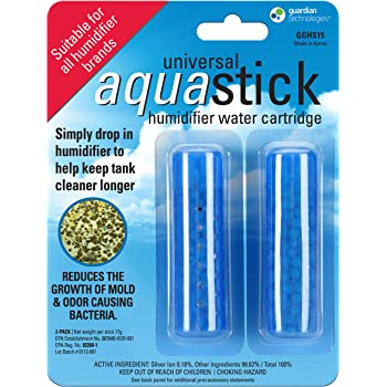 Guardian Technologies GGHS15 Aquastick Antimicrobial Humidifier Treatment, 2-Pack, Pure Guardian Humidifiers, Evaporative Humidifier Water Tanks