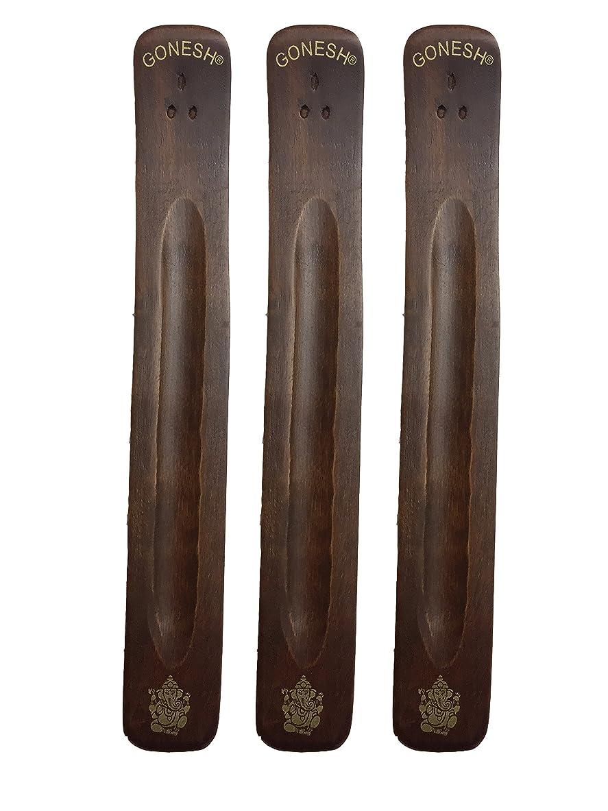 メガロポリスフラフープ休戦3パックGonesh Incense Burner ~ Traditional Incense Holder with Inlaidデザイン~約11インチ、のさまざまなデザイン
