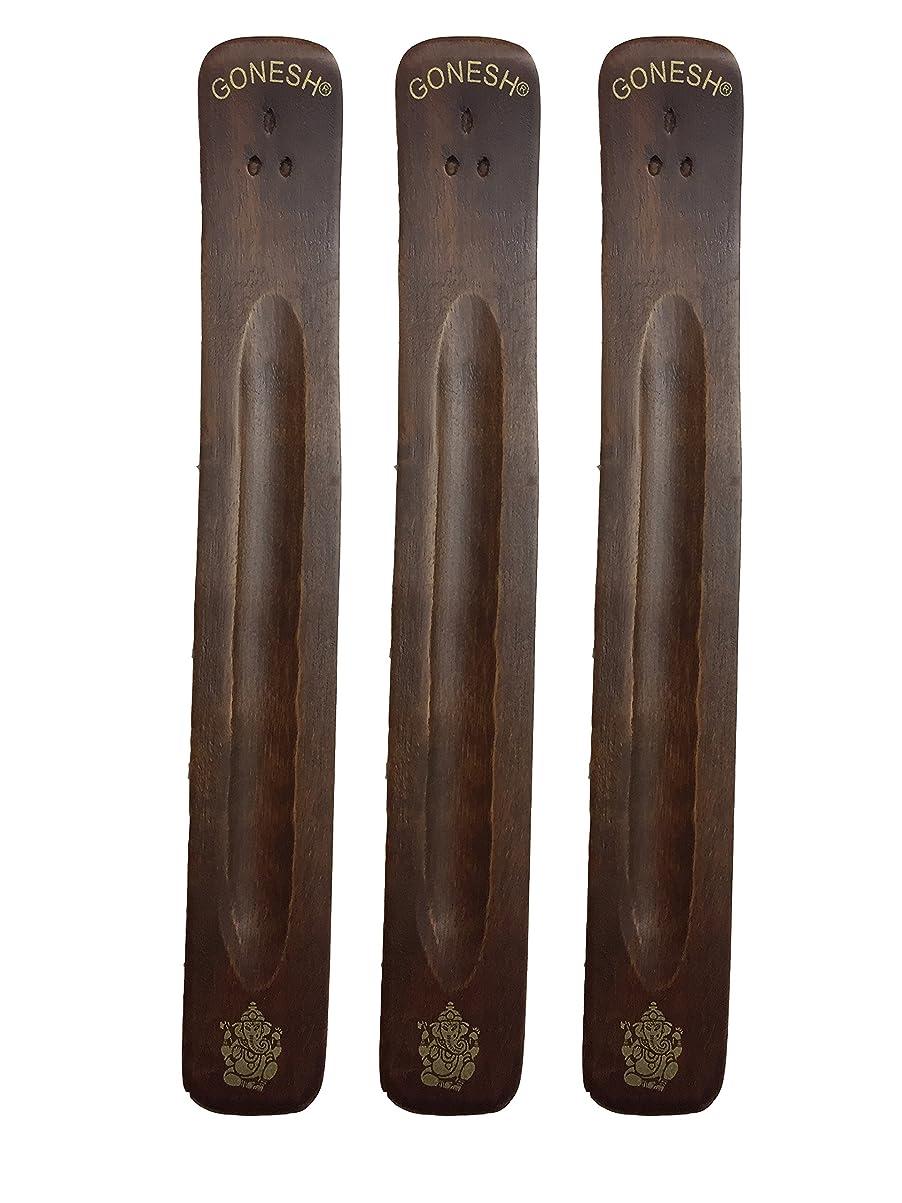 心から素晴らしさ焼く3パックGonesh Incense Burner ~ Traditional Incense Holder with Inlaidデザイン~約11インチ、のさまざまなデザイン