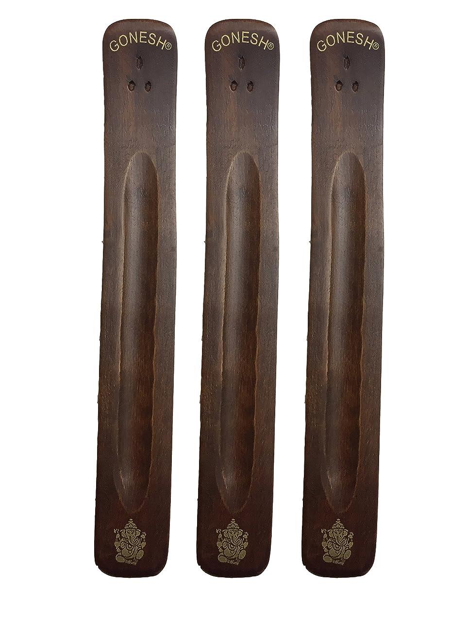 足枷スキーム安全3パックGonesh Incense Burner ~ Traditional Incense Holder with Inlaidデザイン~約11インチ、のさまざまなデザイン
