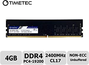 Timetec Hynix IC 4GB DDR4 2400MHz PC4-19200 Unbuffered Non-ECC 1.2V CL17 1Rx8 Single Rank 288 Pin UDIMM Desktop Memory RAM Module Upgrade (4GB)