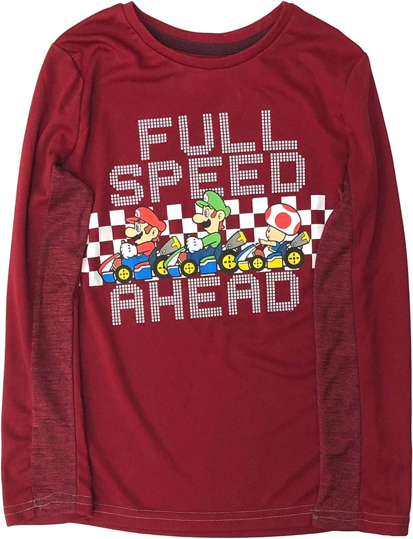 Jumping Beans Active Boys Silky Long Red Super Mario Bros T-Shirt Tee Shirt