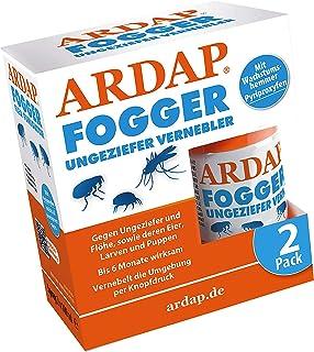 ARDAP Fogger 2 x 100ml - Effektiver Vernebler zur Ungeziefer- & Flohbekämpfung für Haushalt & Tierumgebung - für Räume bis 30m2 - Wirksamer Schutz für bis zu 6 Monate