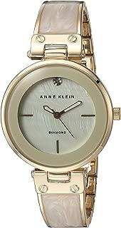 Anne Klein Women's Diamond-Accented Dial Bangle Watch