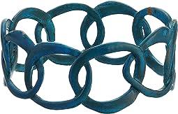 Sculptural Link Bangle Bracelet