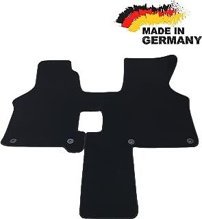 Fußmatte VW T4 2 Sitzer GRAU Premium Hochwertig Velours Rand Hellgrau NEU