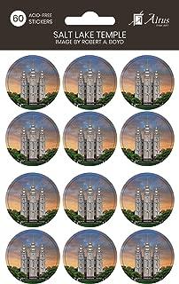 Robert A Boyd Salt Lake Temple- 60, 1.25 inch Round Acid Free Sticker Pack- LDS Temple