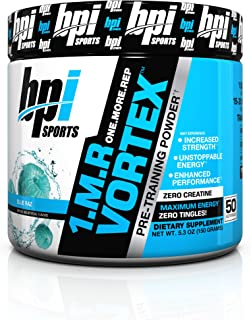 BPI Sports 1.M.R. Vortex Pre-Workout Powder, Blue Raz, 5.3 Ounce