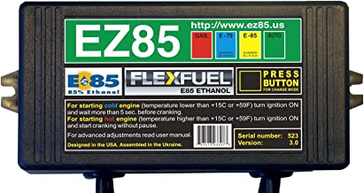 EZ85 Flex Fuel E85 Ethanol Conversion Kit with Delphi-B Injector Connectors for 5, 6 and 8 Cylinder Engines