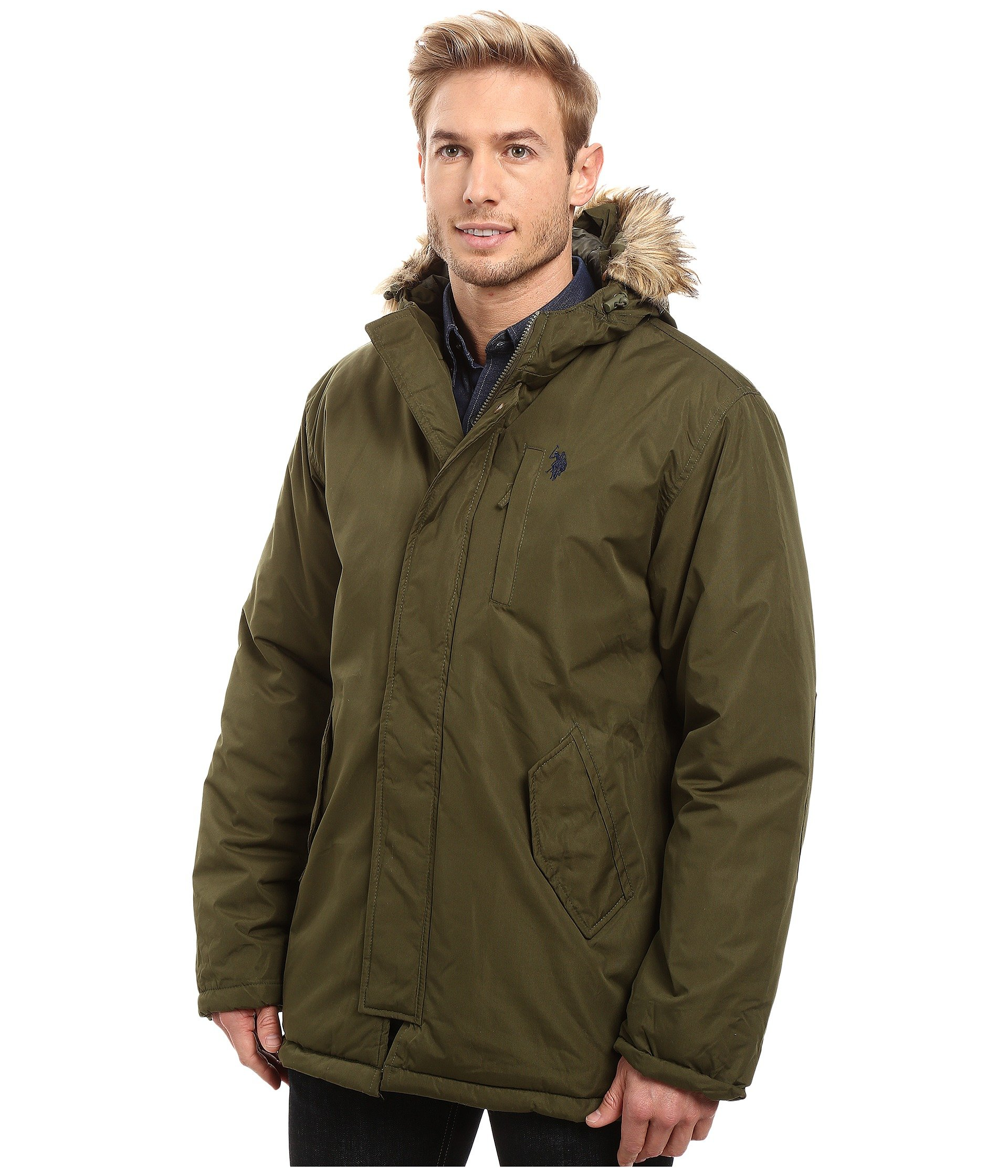 U.S. POLO ASSN. Faux Fur Hooded Parka Jacket at 6pm