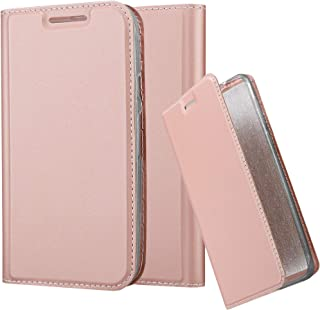 Cadorabo Book Case Works with Motorola Moto G3 in Classy ROSÉ Gold – with Magnetic Closure, Stand Function and Card Slot – Wallet Etui Cover Pouch PU Leather Flip