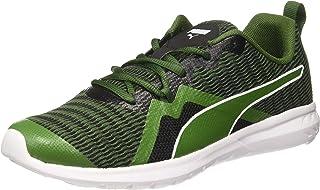 Puma Unisex's Vigor X Mu Idp Black-Garden Green Running Shoes