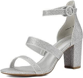 Best block heel sandals glitter Reviews