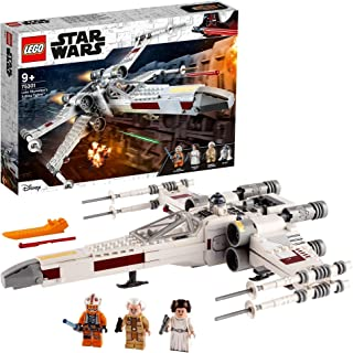 LEGO 75301 Star Wars Luke Skywalker's X-Wing Fighter Toy with Princess Leia and R2-D2 Droid Figure
