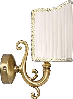 Applique murale en laiton bronze de qualité supérieure - E14 - Jusqu'à 60 W - 230 V - Pour chambre à coucher, couloir, salon, salle à manger