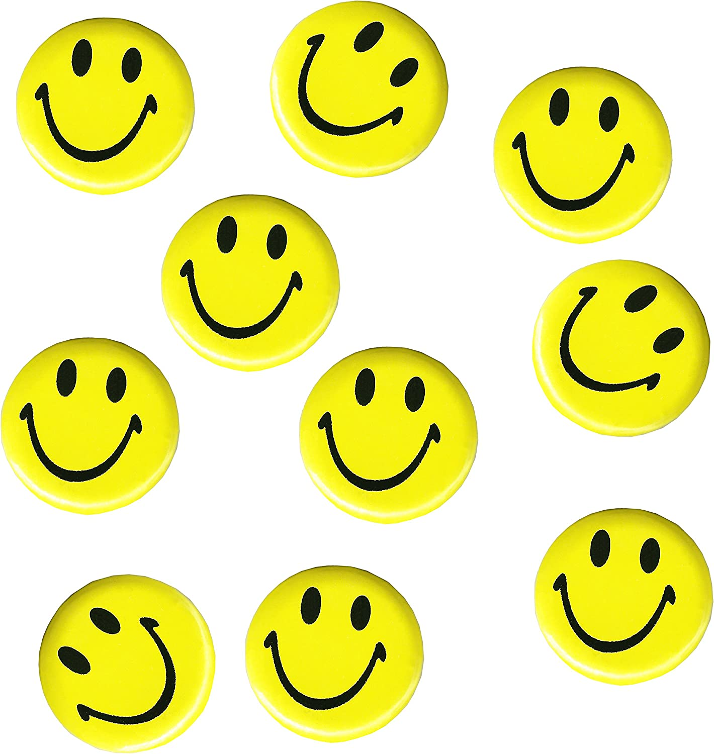 Oxford Novelties 1 10 20 30 Yellow Smiley Acid House Emoji Face Badge 3 Cm Wide Rave 80 S 90 S 10 Amazon Co Uk Toys Games
