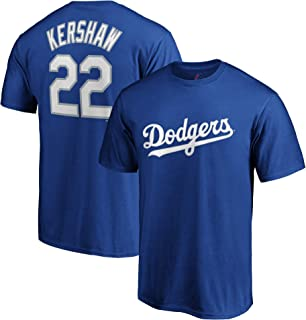 MLB Youth Performance Polyester Team Color Player Name and Number Jersey T-Shirt