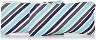 "Itzy Ritzy Reusable Mini Snack Bags – 2-Pack of 3.5"" x 7"" BPA-Free Snack Bags are Food Safe & Washable for Storing Snacks, Pacifiers and Makeup in a Diaper Bag, Purse or Travel Bag, Sail Away Stripe"