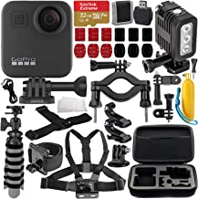 $579 » GoPro MAX 360 Action Camera with Deluxe Accessory Bundle – Includes: SanDisk Extreme 32GB microSDHC Memory Card, Rechargeable Underwater LED Light, Protective Carrying Case & Much More