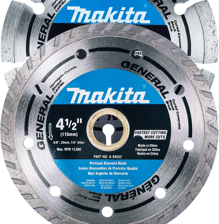 "Makita 2 Piece - Max 90% OFF 4.5"" Turbo Segmented Diamond Blade Denver Mall F Set"