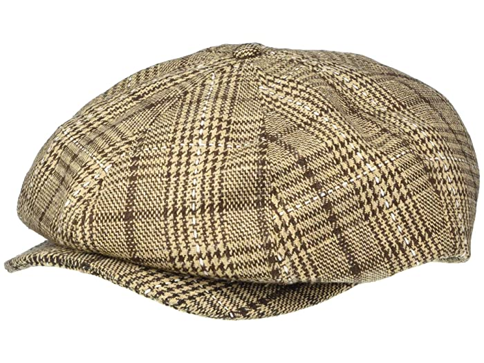 1940s Mens Hats | Fedora, Homburg, Pork Pie Hats Brixton Brood Snap Cap TaupeBrown Caps $43.00 AT vintagedancer.com