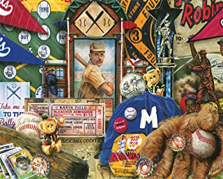 Springbok Puzzles - Vintage Baseball - 1000 Piece Jigsaw Puzzle - Large 30 Inches by 24 Inches Puzzle - Made in USA - Unique Cut Interlocking Pieces