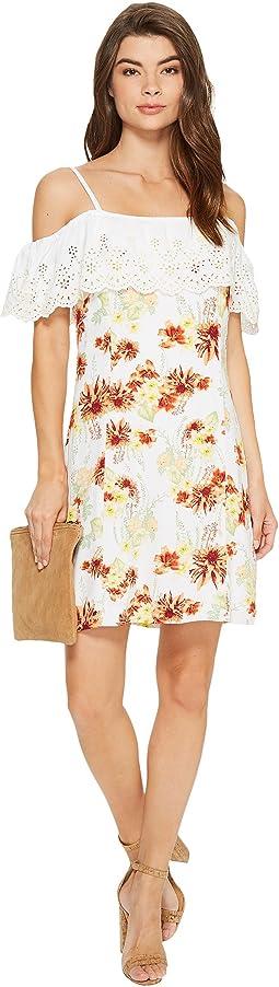 Botanical Floral Cold Shoulder Dress KS7K7200