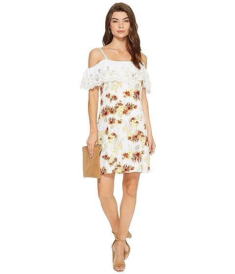 a9e26973e4ac kensie Botanical Floral Cold Shoulder Dress KS7K7200 at 6pm
