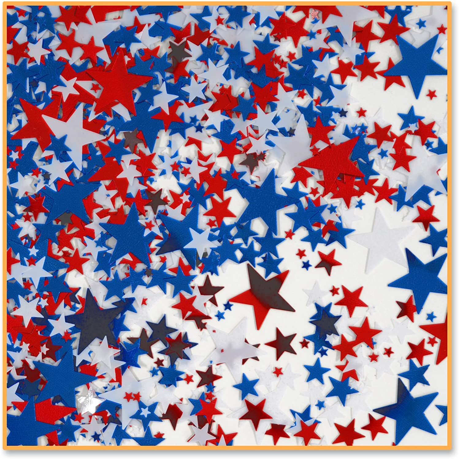 Wimpelkette Sterne Konfetti Red, White, Royal bluee