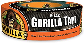 "Gorilla Black Duct Tape, 1.88"" x 35 yd, Black, (Pack of 1)"