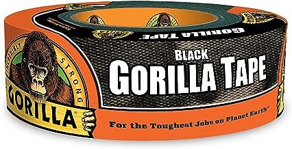 "Gorilla Tape, Black Duct Tape, 1.88"" x 35 yd, Black, (Pack of 1)"