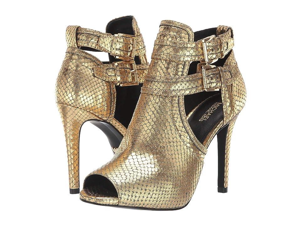 MICHAEL Michael Kors Blaze Open Toe Bootie (Old Gold) Women