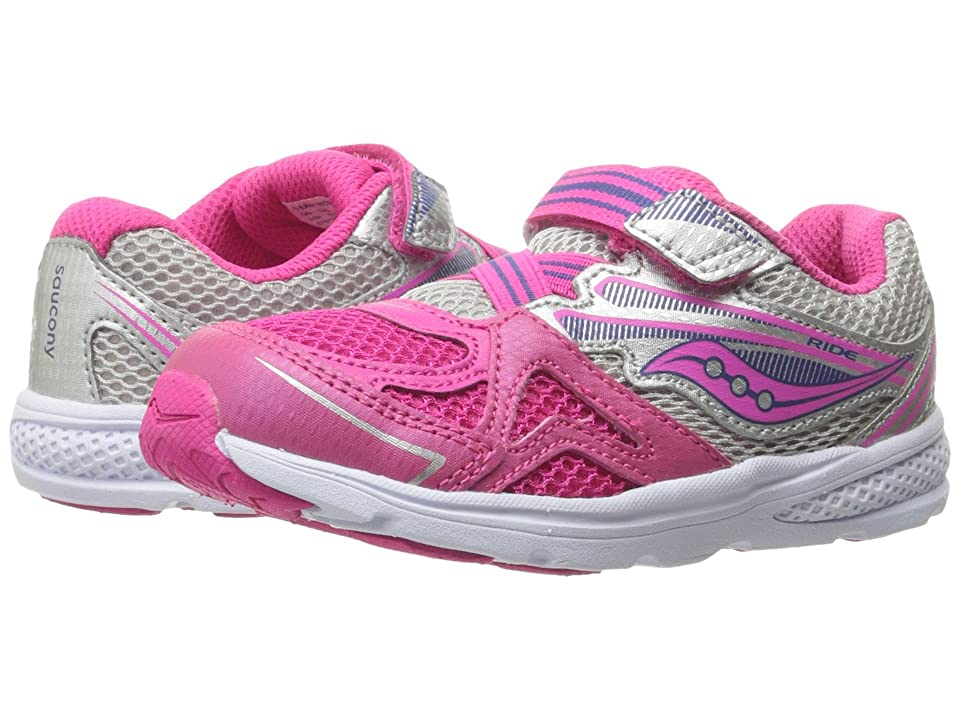 Saucony Kids Ride 9 (Toddler/Little Kid) (Pink) Girls Shoes