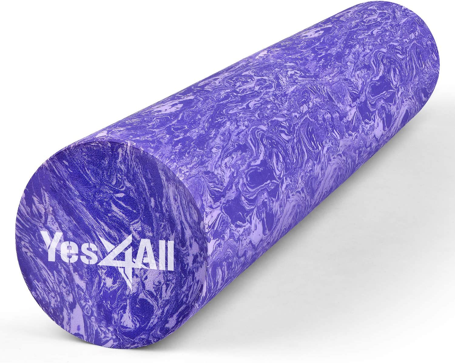 Yes4All EVA Foam Roller for Deep Massage, Rehabilitation and Physical Therapy (18 inch, Clematis Marbled): Sports & Outdoors