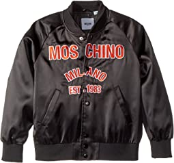 Moschino Kids Jacket w/ Logo on Front (Big Kids)